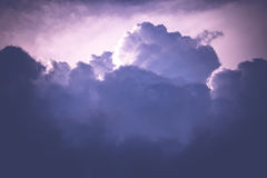 Grey Stormy Clouds Filtered foncé Photo stock