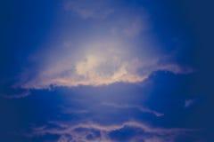 Grey Stormy Clouds Filtered foncé Photographie stock libre de droits