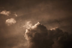 Grey stormy sky Royalty Free Stock Photo