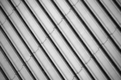 Grey stripes of concrete facade wall pattern stock photography