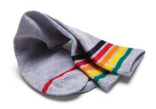 Grey Stripped Socks foto de stock royalty free