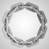 Grey strong chain circle in top view Royalty Free Stock Photos