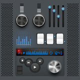 Grey GUI User Interface royalty free illustration