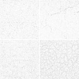 Grey subtle dotted grunge vector textures, distressed noise weathered patterns set Stock Photo