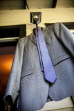 Grey Suit Jacket and Tie Royalty Free Stock Image