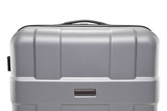 Grey suitcase plastic. upper part of the handle Royalty Free Stock Photography