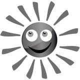 Grey sun Royalty Free Stock Photo