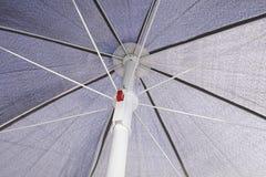 Grey sunblock umbrella Royalty Free Stock Image