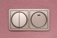 Grey switch light Stock Photography