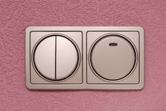 Grey switch light Royalty Free Stock Photo