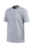 Grey t-shirt for branding isolated on white background Royalty Free Stock Photography