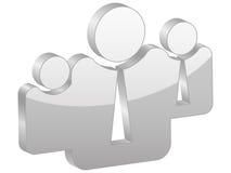 Grey team symbol Royalty Free Stock Photography