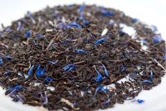 Grey teawith het bladkorenbloem en bergamot van Graaf royalty-vrije stock foto's