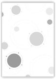 Grey tech circles abstract background Royalty Free Stock Photography