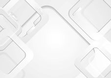 Grey tech squares vector background Stock Image