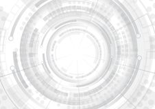 Grey Technology Abstract Background illustrazione di stock