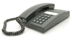 Grey telephone Royalty Free Stock Images