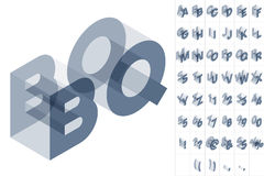 Grey text in isometric view Stock Images