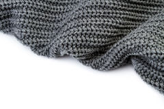 Grey textured fabric stock photo.  Royalty Free Stock Image