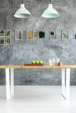Textured wall in dining room Royalty Free Stock Photography