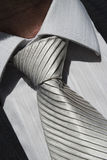 Grey tie. A grey tie and shirt Royalty Free Stock Photography