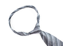 Grey tie. On the white background Stock Photography