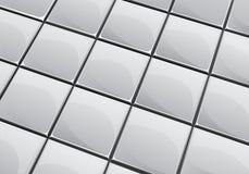 Grey tile background Stock Photos