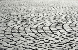 Grey tiles on the pavement Stock Photography