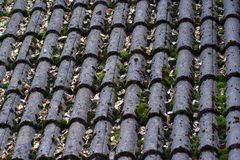 Grey tiles of a roof Royalty Free Stock Photos