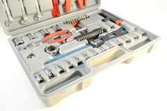 Grey toolbox Stock Image