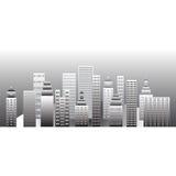 Grey town Stock Image