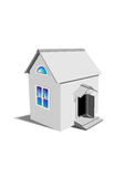 Grey toy house Royalty Free Stock Photography