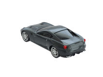 Grey toy sport car from back isolated Stock Photos