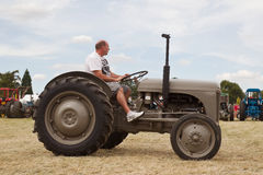 Grey tractor Royalty Free Stock Photo