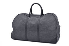 Grey travel bag. With white background Royalty Free Stock Photo