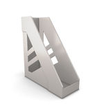 Grey tray for papers Royalty Free Stock Images