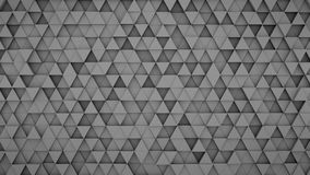 Grey triangles extruded background 3D render. Grey triangles extruded. Abstract geometric background. 3D render illustration Royalty Free Stock Image