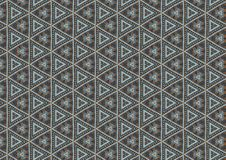 Grey Triangles Shapes Pattern. A quilt pattern texture in blue and grey. Ideal as a background, layer or texture Stock Photography