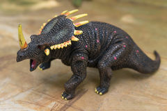 Grey triceratops toy Stock Photography