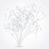 Grey Tulip flowers background design Royalty Free Stock Photo