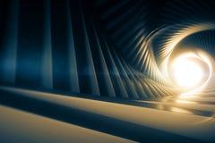 Grey Tunnel Royalty-vrije Stock Afbeeldingen