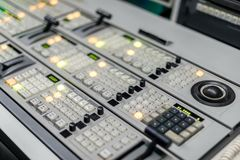 Studio control panel close up photo Royalty Free Stock Images