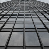 Grey Uniform Grid Skyscraper universale Fotografia Stock