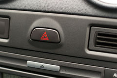 Grey unknown car dashboard hazard Royalty Free Stock Images