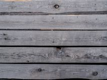 Grey unplaned boards. Stock Image