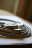 Grey USB wire Stock Images