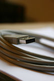 Grey USB wire Royalty Free Stock Photo
