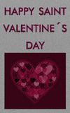 Grey valentine card Royalty Free Stock Image