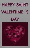 Grey valentine card royalty free stock image