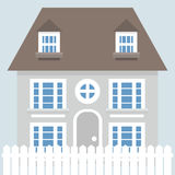 Grey vector house icon Stock Photos
